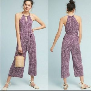 Anthropologie Purple Claremont Jumpsuit